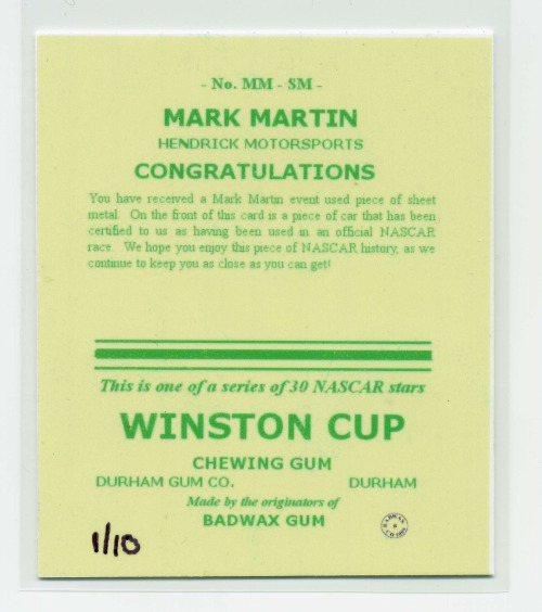 mark martin back